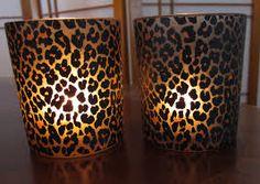 Leopard print votives.