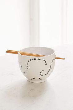 Shop Mix + Match Noodle Bowl + Chopstick Set at Urban Outfitters today. Pottery Bowls, Ceramic Bowls, Pottery Ideas, Ceramic Pottery, Diy Home, Home Decor, Clay Birds, Soup Bowl Set, Japanese Kitchen