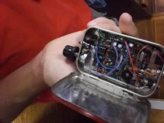 Morse Code radio in an Altoids tin case.