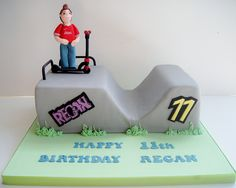 Scooter and Skate Park cake by small town girl bakery, via Flickr