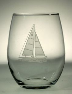 Sailboat Stemless Wine Tumblers - set of 4 for $50.00