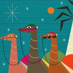 Three wise camels   | www.martiillustration.com