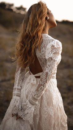 Southern Wedding Dresses, Western Wedding Dresses, Cute Wedding Dress, Bohemian Wedding Dresses, Wedding Dress Sleeves, Long Wedding Dresses, Bridal Dresses, Vintage Boho Wedding Dress, Bohemian Lace Dress