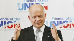 William Hague is addressing the issue of the Union
