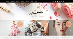 Beauteous Blogger Template by Yo..! Templates on Creative Market