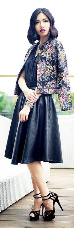♥Vintage Floral Bomber Jacket