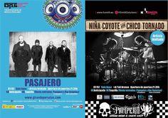 Aún estás a tiempo de ganar tu entrada gratuita para el concierto de esta noche con Pasajero y Niña Coyote eta Chico Tornado en Sala Aqua