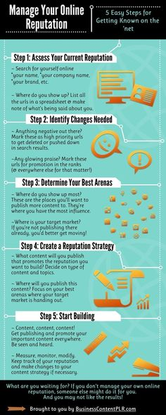 Manage Your Online Reputation [infographic]