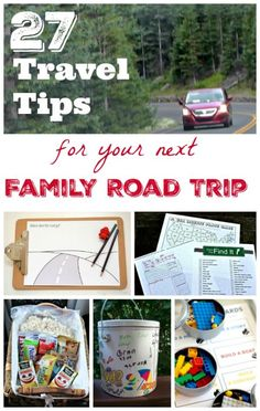 Best Tips for Road Trips with Kids - fun ideas for things to do in the car, get the car organized and travel hacks!