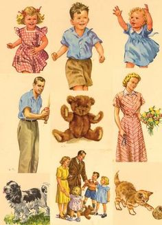 DICK AND JANE PICTURE CARDS on Aleph-Bet Books9 8x11 picture cards.  D, J, S, Spot, Tim, Puff M&D