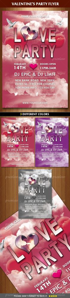 Valentine / Love Party Flyer Template