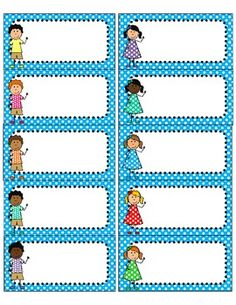 "FREE! Cute polka dot and kids free printables using Avery 5163 Labels. .... Follow for Free ""too-neat-not-to-keep"" teaching tools & other fun stuff :)"