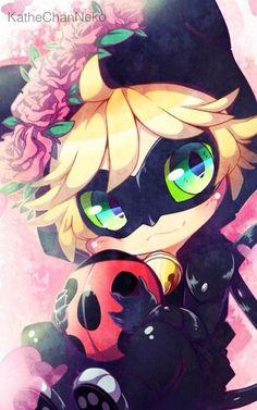 Cute Chibi Chat Noir! (Miraculous Ladybug) Prodigiosa Las aventuras de Ladybug / @lulypilo
