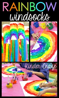 Maria revisits her first project idea on the blog: Rainbow Wind Socks! Get a look at these fan faves and prepare to celebrate Kinder Craze's 1st birthday!