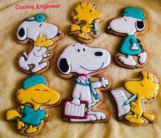 Snoopy and Woodstock Cookies | Cookie Engineer