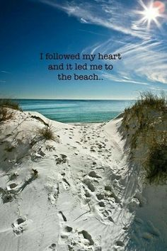 Our Beautiful World – Pictures walk to the beach Ocean Quotes, Beach Quotes, Summer Quotes, Sea And Ocean, Ocean Beach, Beach Bum, Beach Walk, Summer Beach, Florida Quotes