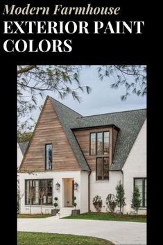 Paint your home's exterior in one of these tried and true modern farmhouse exterior paint color combinations! Best Exterior Paint, House Paint Exterior, Exterior Paint Colors, Modern Farmhouse Exterior, Modern Farmhouse Style, Exterior Paint Color Combinations, House Painting, Modern Architecture, Mansions