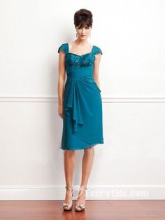 【$107.99 Free Shipping】 stunning short blue event dress for mothers