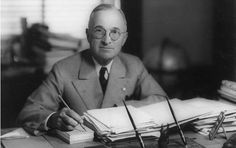 Harry S. Truman (1884-1972) the 33rd President of the United States. Two atomic bombs detonated over Japanese cities, 1945