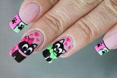 decoracion-unas-gatos-3 Nail Manicure, Pedicure, Nail Polish, Nails, Makeup Art, Hair Makeup, Marie Cat, All Things Beauty, Nail Art Designs