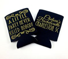 Gatsby Theme Koozie. A Little Party Never Killed by TheSassyBride