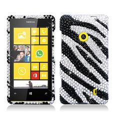 Cell Cases USA - Nokia Lumia 521 Black Silver Diamond Hard Cover Case, $14.99 (http://cellcasesusa.com/nokia-lumia-521-black-silver-diamond-hard-cover-case/)