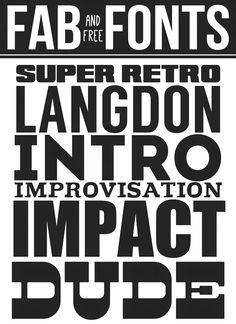 Fab Free Fonts - great bold fonts