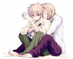 Cute shounen aipic. I think this is hetalia? Maybe i'm wrong..