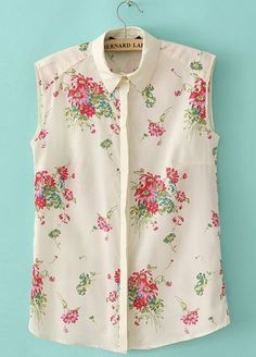This classic blouse is adorned with rose carnation print creating a natural graceful appeal.