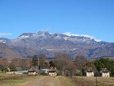 Drakensbergen in Zuid-Afrika.