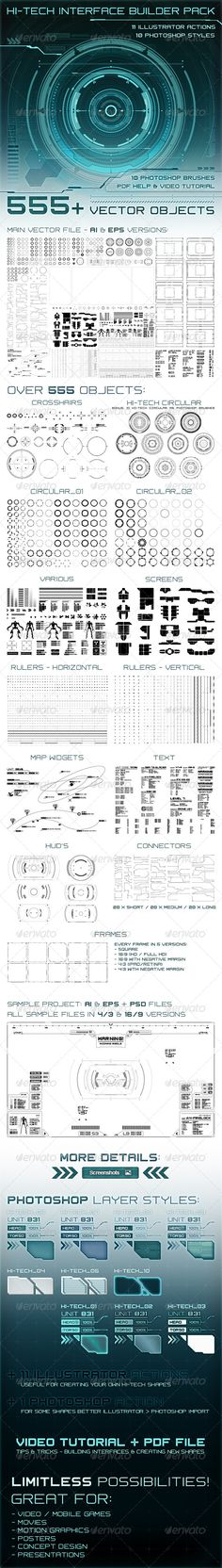 Hi-Tech Interface Builder Pack - Technology Conceptual