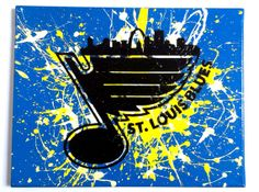 St.Louis Blues painting on canvas 11x14 by SaintLouisArtitorium, $22.00