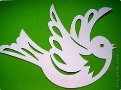 Kirigami, Paper Birds, Paper Flowers, Paper Folding Crafts, Animal Skeletons, Egg Art, Scroll Saw Patterns, Applique Patterns, Fabric Painting