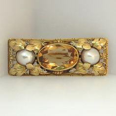 Rare Arts and Crafts Brooch 18k | Antique and Estate Jewelry | Jewelry Finds SOLD: 7-3-15