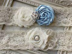 Light blue Satin and Lace Bridal Garter by FlourishingCreations, $29.95