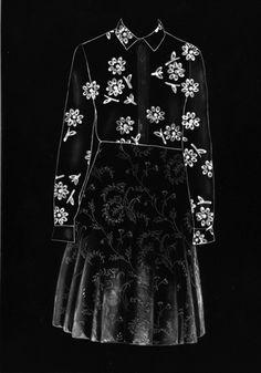 Outfit 1, Esther Zitman (2011, 21 x 30 cm artwork, fotogram op barietpapier)