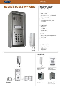 GSM & Wired intercom systems for gates and automatic entrances