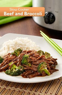 With only 15 minutes of prep time in the morning, this delicious Slow Cooker Beef and Broccoli will be ready for dinner tonight! A simple Asian recipe that comes together in no time. Slow Cooker Beef and Broccoli Passionate Penny Pincher ppennypinc Asian Recipes, Crockpot Recipes, Cooking Recipes, Dinner Crockpot, Chinese Recipes, Broccoli Beef, Broccoli Recipes, Broccoli Crockpot, Broccoli Stalk