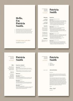 Resume and Cover Letter Layout with Tan Accents. Buy this stock template and explore similar templates at Adobe Stock Graphic Design Cv, Layout Design, Web Design, Graphic Resume, Design Trends, Mise En Page Portfolio, Portfolio Design, Portfolio Layout, Resume Design Template