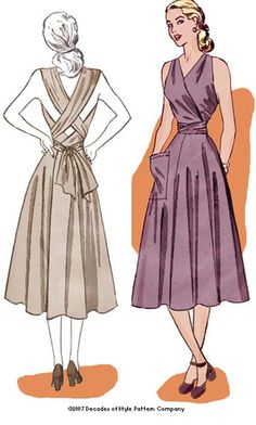 1940s Sundress Repro Pattern by Decades of Style. $20.00, via Etsy.
