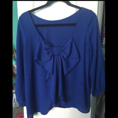 Bow back top Bow back blouse from necessary clothing. in Great condition. Necessary Clothing Tops Blouses