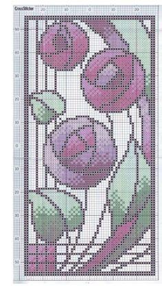 Art Nouveau Designs • 3/4 Macintosh Rose