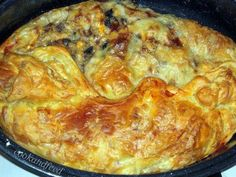 Κοτόπιτα με μανιτάρια και μπέικον