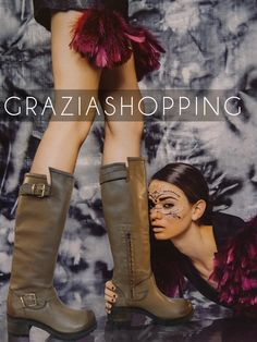 New collection #graziashopping #lyon . Bootes moka tige hautes en cuir #leather #mode #fashion #shoes #boots #woman #winter