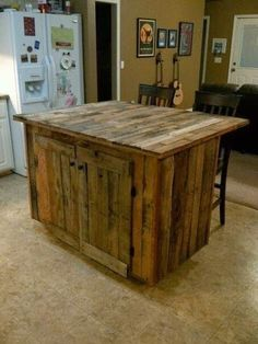 Kitchen Island-Pallets Projects Inspiration | Just Imagine - Daily Dose of Creativity