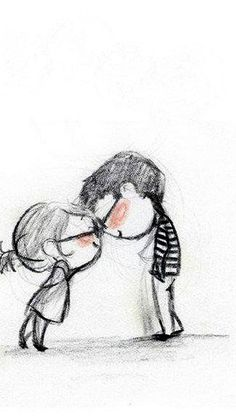 Cute Adorable Couple - reminds me of Up! The emotions!! #animated #sketched #drawing