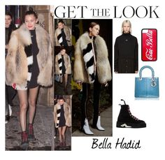 """""""Bella Hadid With Kendall Jenner L'Ave Maria Restaurant in Paris January.21.2017"""" by valenlss ❤ liked on Polyvore featuring Off-White"""