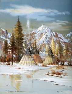 South Fork Camp by Robert Wagoner, kK Native American Paintings, Native American Pictures, Native American Beauty, Indian Pictures, American Indian Art, Native American History, American Indians, Native Art, Native Indian