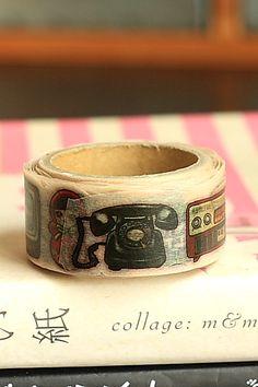 Japanese Kawaii Die-Cut Washi Paper Masking Tape by Yano Design - Retro Zakka