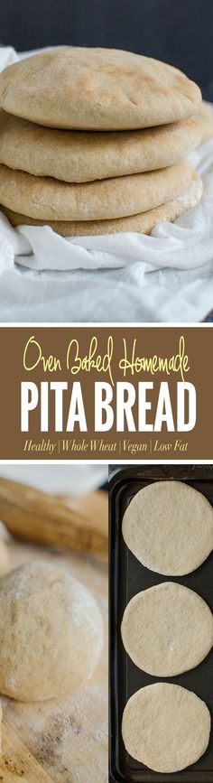 Whole wheat pita bread to pair with homemade hummus, Mediterranean salads etc. You can also make falafel sandwich or turn them into pita chips  via @watchwhatueat